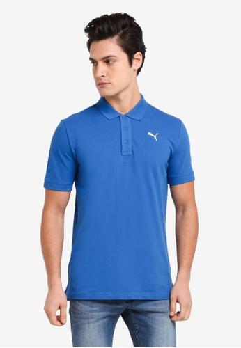 Puma blue ESS Pique Polo Shirt 7E823AAF12BD37GS_1