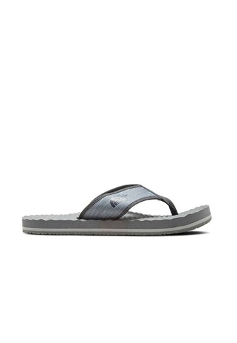 The North Face grey The North Face M Base Camp Flip-Flop Zincgrywndprnt/Wthrd C95B2SH12D014AGS_1