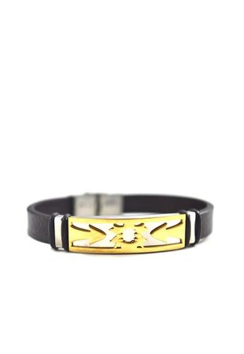 Jewelplace silver Premium Stainless Steel  Leather Bracelet        JE882AC0J5Z8PH_1