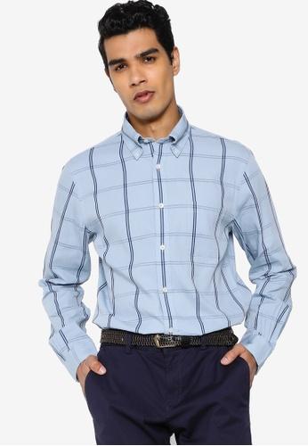 Brooks Brothers blue Mens Woven Shirt 07EFFAA7C2CA08GS_1