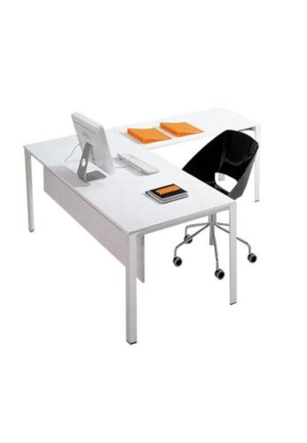 AMERCIS white Amercis Progue L-Shaped Office Table C1EC0HL9720E8FGS_1
