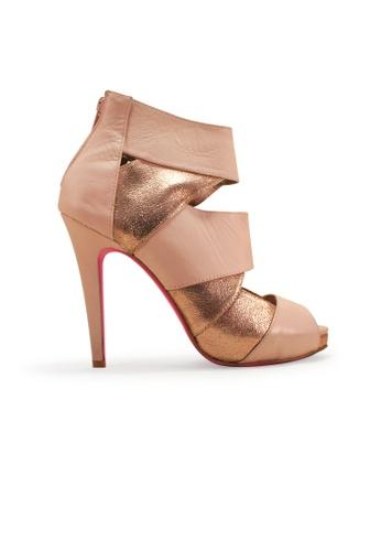 Gripz pink Mack Bandage Peep Toe Ankle Heels GR357SH01IRESG_1