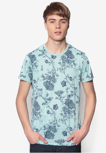 Brodericesprit 雨傘k 花葉印花短袖TEE, 服飾, 印圖T恤