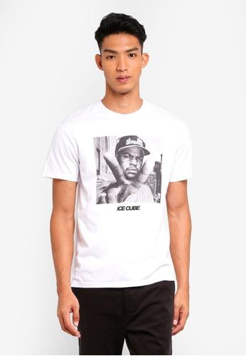 Topman white White Ice Cube T-Shirt FE54DAA8D044A0GS_1