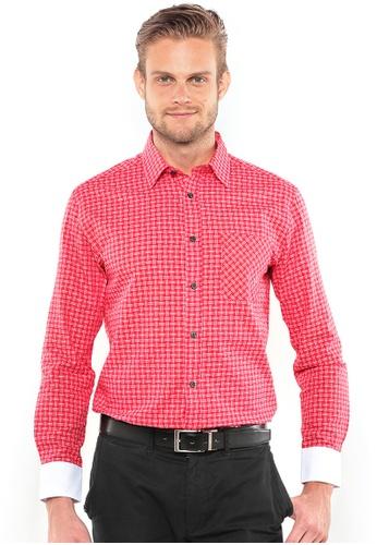 POLO HAUS multi Polo Haus Long Sleeve Shirt (Red/White) PO783AA75BIYMY_1