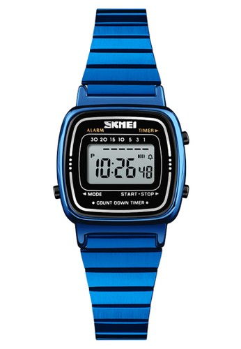 Digitec blue Skmei - Jam Tangan Wanita - Blue - Stainless Steel - 1252-C AB286AC02C0563GS_1
