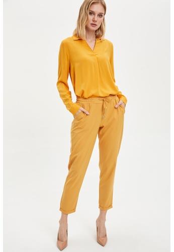 DeFacto yellow Woman Trousers 027FAAAA9ED99EGS_1
