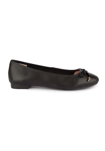 MAUD FRIZON black Kid Leather Square Toe Ballerinas With Bow 81FD8SH5C968F2GS_1