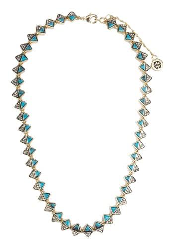 異材質三角世界項鍊, 飾品zalora 順豐配件, 項鍊
