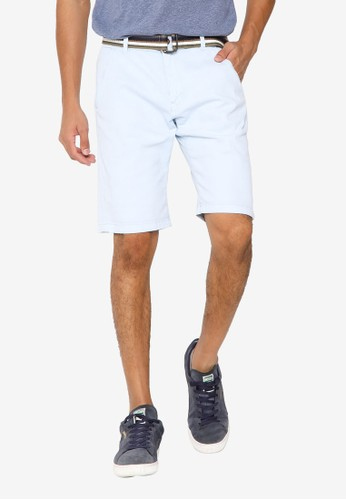 Indicode Jeans blue Royce Shorts with Belt 639B3AAE4480C4GS_1