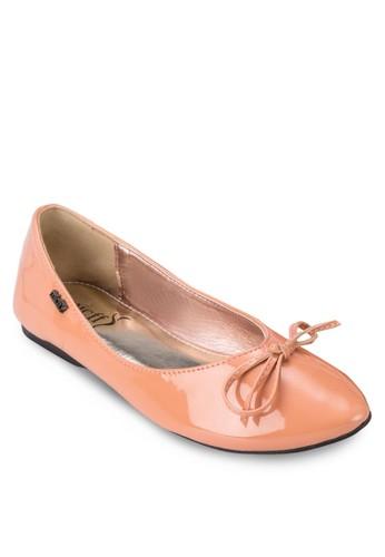 漆皮蝴esprit香港門市蝶結娃娃鞋, 女鞋, 芭蕾平底鞋