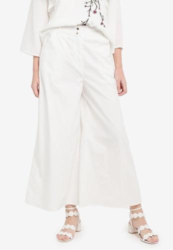 Zalia white Crop Wide Leg Pants 80D6FAA46D2832GS_1