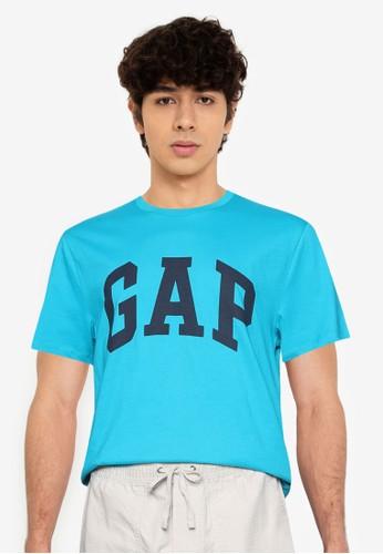 GAP blue Basic Logo T-Shirt 284F9AAA3DA56DGS_1