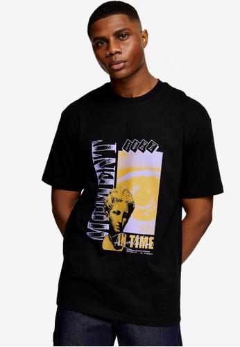 Topman black Moment Print T-Shirt In Black 0321EAA5D003D6GS_1