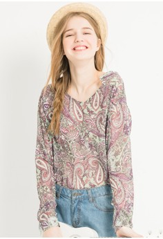 [IMPORTED] Paisley Pop Chiffon Top