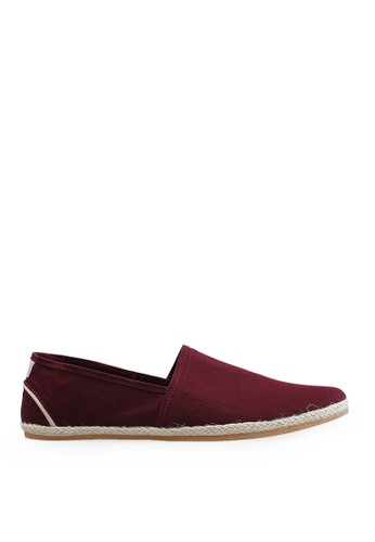 Minarno red Maroon Canvas Slip-On ADN029 MI641SH50NHTID_1