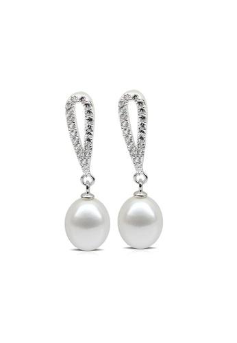 Adora White Silver Drop Pearl Earrings F27f0aca09f23ags 1