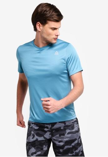 Reebok 藍色 慢跑Core 短袖T恤 4270EAA0A5F754GS_1