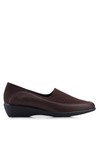 Noveni 褐色 舒適懶人楔型鞋 FA4EFSHBC068DCGS_1