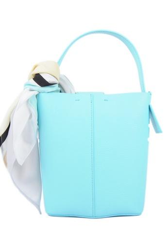 RO Bags blue RO Terranova Felucca Mini Top Handle Bucket Bag in Aqua/Mint 37F8FAC5D97D9BGS_1