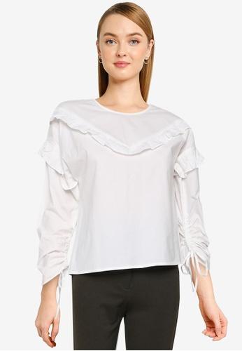 Nichii 白色 Long Sleeve Blouse A6203AA090C337GS_1