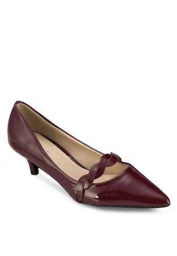 zalora 內衣Natasha 編織帶尖頭中跟鞋, 女鞋, 鞋