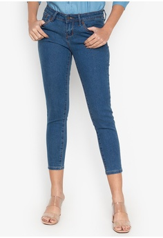 b1b0349327dc REDGIRL blue Slim and Cropped Ladies Jeans 06B0DAA60ED033GS 1