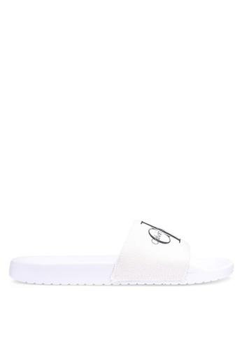 Calvin Klein white Viggo Slides 08858SH96C02CDGS_1