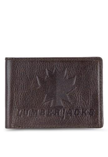 Lumberjacks zalora退貨壓紋對折皮夾, 飾品配件, 皮革