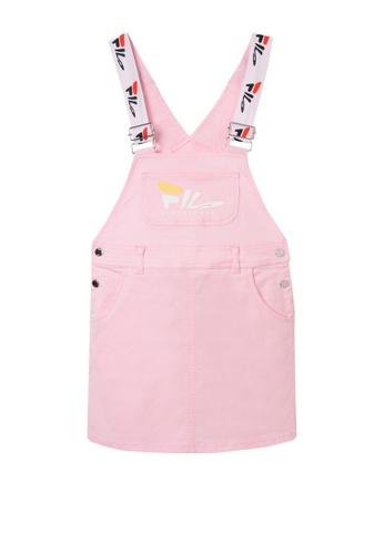 FILA pink FILA KIDS MINDBLOWER Logo Pinafore Dress 10-16yrs 0F6B2KA2732ED7GS_1