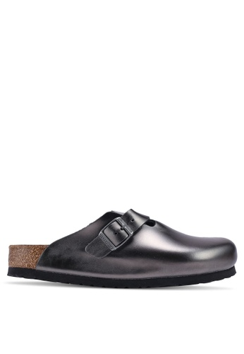 98abadbc8c7bf Buy Birkenstock Boston Metallic Sandals Online on ZALORA Singapore