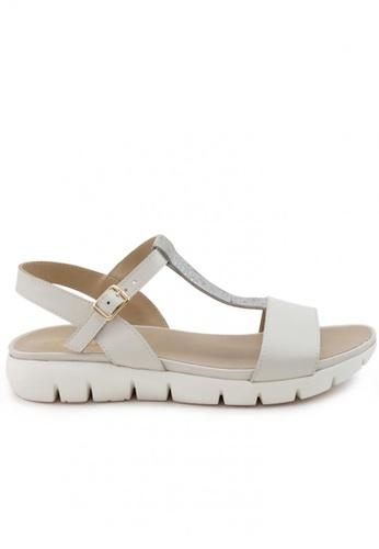 Shu Talk 白色 牛皮舒適運動型時款涼鞋 SH544SH099V9TW_1