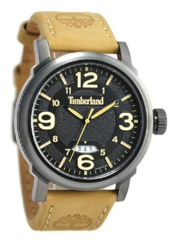Timberland Jam Tangan Pria Kuning Leather Strap TBL14815JSU-02