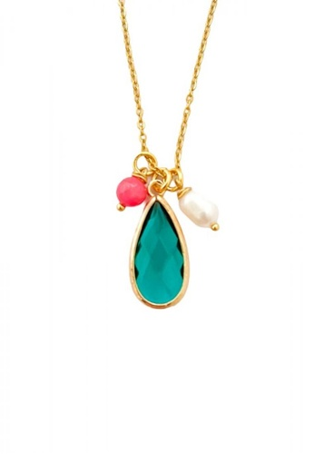 Trinkets for Keeps gold Teardrop Glass Necklace and Freshwater pearl 9A45DAC5B4E5E3GS_1