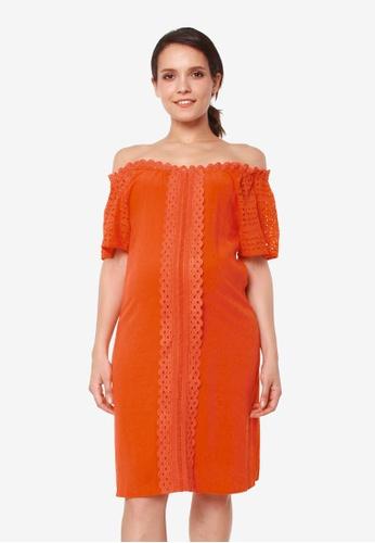 Bove by Spring Maternity orange Eliana Dress 70A8BAA2B0092EGS_1