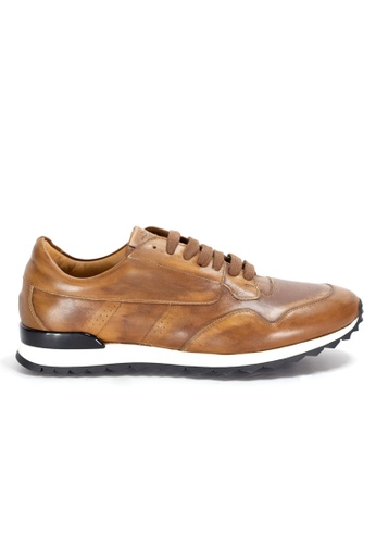 Shu Talk brown Casual Smart Stylish Vintage Handmade Sneakers for Men 5124DSH2070153GS_1