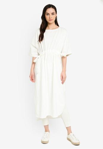 niko and ... white Drawstring Waist Dress B6801AAEABF790GS_1