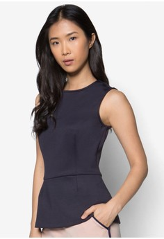 Collection Sleeveless Peplum Top