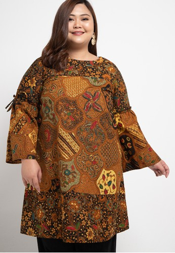JULIEN brown Batik Tunic Callysta E79E0AA1EA3681GS_1