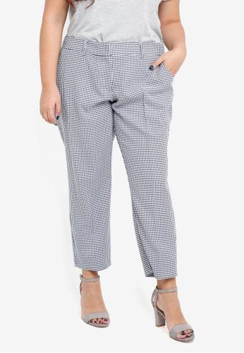 Dorothy Perkins navy Navy Ankle Grazer Trousers 0FE3EAAAE2192EGS_1