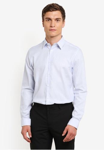 Burton Menswear London blue Skinny Blue Formal Shirt BU964AA0RQOCMY_1