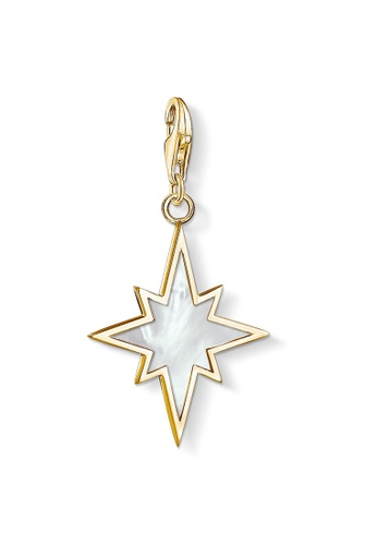 """THOMAS SABO gold Charm pendant """"star mother-of-pearl"""" 64E8CACBA07233GS_1"""