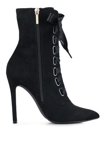 Velvet black High Heel Ankle Boots B16C9ZZ95053DAGS_1