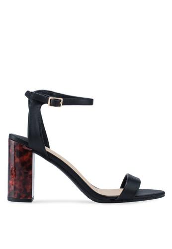 4fcaa66e47 Dorothy Perkins black Wide Fit Black Shimmer Block Heels 25EECSH000FEA1GS_1