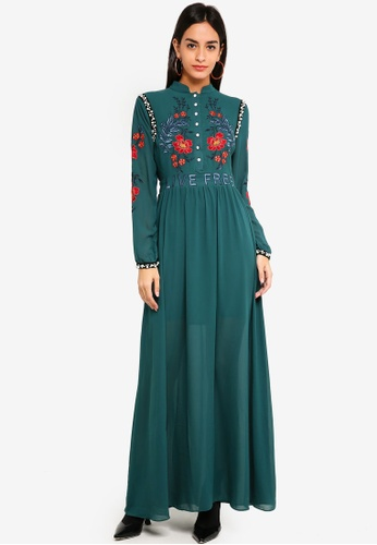 Buy Glamorous Dark Green Evening Dress Online On Zalora Singapore