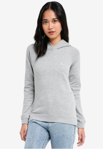Jack Wills grey Ridgen Lightweight Hoodie 1CD8AAA0744AC7GS_1