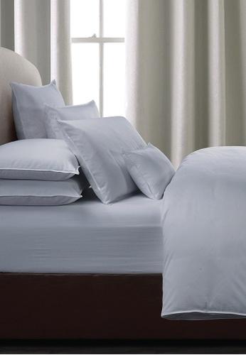 Grand Atelier blue Bluehaze Suite Essentials Pillowcase 100% Egyptian Cotton Sateen 1000TC. C7FB4HLE4801C3GS_1