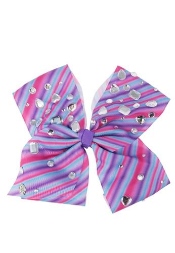 Jojo Siwa Jojo Siwa Bow With Clip (Striped Rhinestone) 0FA73KCFE9D06BGS_1
