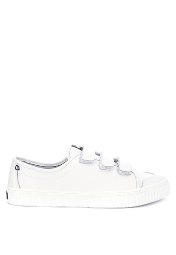 Sperry white Crest Loop Leather Sneakers 4A5ACSH6B6D98CGS_1