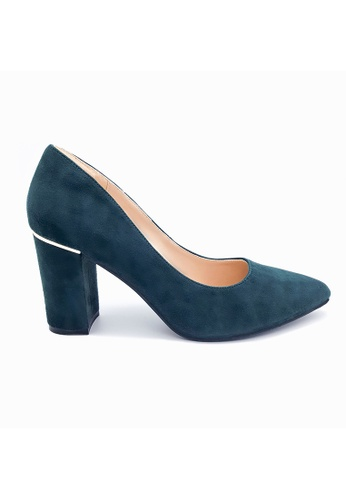 Toufie green Aruba 80 High Heel Snake And Leather - Emerald Green AD245SH61044CEGS_1
